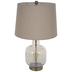 Champagne Hammered Glass Lamp