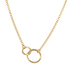 10K Gold Plated Joined Circle Necklace