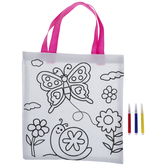 Butterfly & Snail Tote Bag Coloring Kit