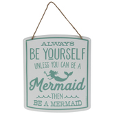 Be A Mermaid Metal Wall Decor