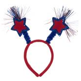 Red & Blue Star Tinsel Headband