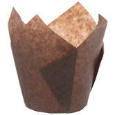 Brown Tulip Baking Cups