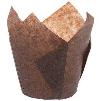 Brown Tulip Baking Cups