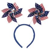 American Flag Pinwheel Headband