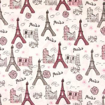 Paris Glitter Apparel Fabric