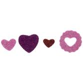 Pink, Purple & Red Glitter Heart Foam Stickers