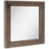 Brown Distressed Wood Wall Mirror