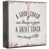 A Good Coach Wood Decor