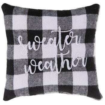 Sweater Weather Buffalo Check Mini Pillow