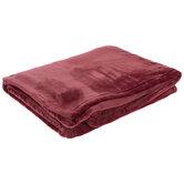 Burgundy Velvet Throw Blanket