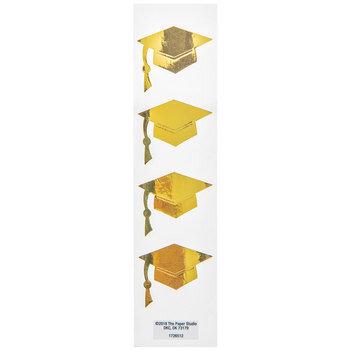 Gold Graduation Caps Envelope Seals