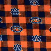 Auburn Allover Collegiate Fleece Fabric