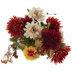 Orange, Red & Cream Mum & Dahlia Bush