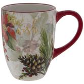Wish Pine & Poinsettia Mug