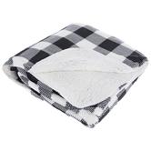 Buffalo Check Sherpa Throw Blanket