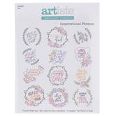 Inspirational Phrases Embroidery Transfer Sheet