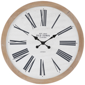 Old Town Wood Wall Clock