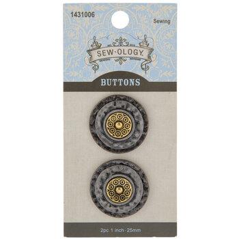 Layered Metal Shank Buttons - 25mm