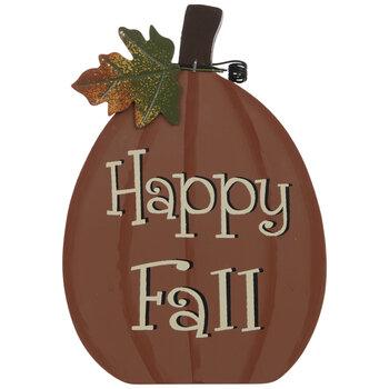Happy Fall Pumpkin Wood Decor