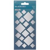 Square Adhesive Craft Mirrors
