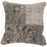 Beige Asymmetrical Jacquard Pillow Cover