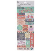 Forever & Always Cardstock Stickers