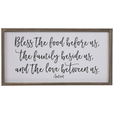 Bless The Food Wood Wall Decor