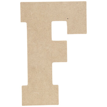 "Wood Letter F - 5"""