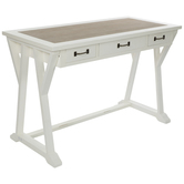 Distressed White Wood Desk