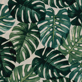 Green Tropical Leaf Fabric