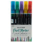 Glitter Paint Markers - 5 Piece Set