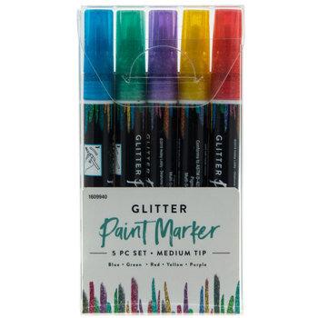 Glitter Paint Markers - 5 Piece Set
