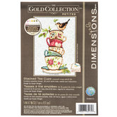 Stacked Tea Cups Counted Cross Stitch Kit