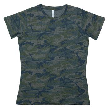 Vintage Camo Ladies T-Shirt - Medium