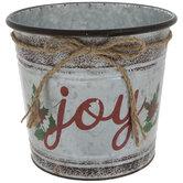 Joy Galvanized Metal Tree Container