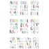 Bright Colors Alphabet Stickers