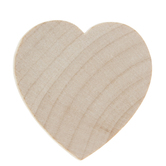 Heart Wood Shapes - 1 1/2""