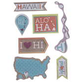 Hawaii Icons 3D Stickers
