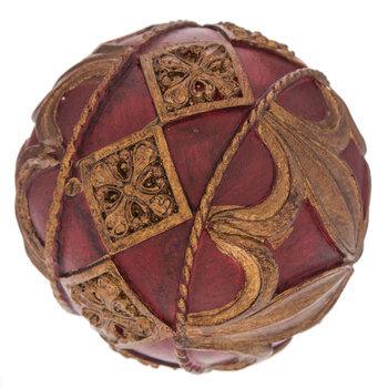 Red & Gold Flourish Decorative Sphere