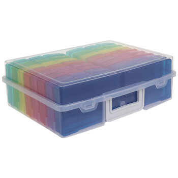 Rainbow Photo Storage Organizing Case