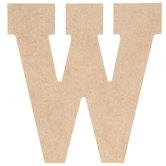 "Wood Letter W - 5"""
