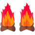 Paper Campfire Decor