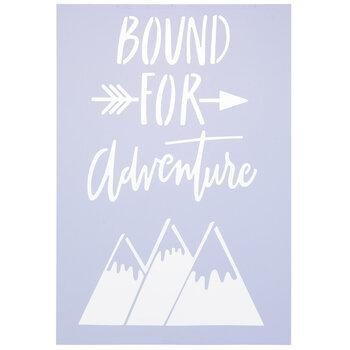 Bound For Adventure Stencil