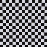 Black & White Check Cotton Calico Fabric