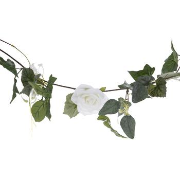 White Rose & Hydrangea Garland
