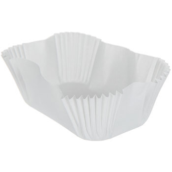 White Loaf Baking Cups