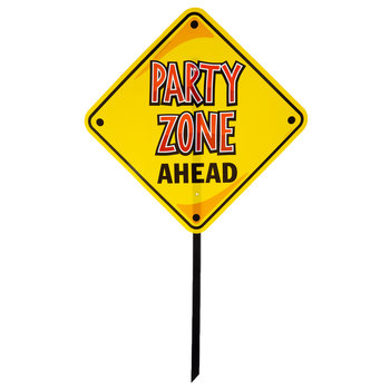 Party Zone Ahead Lawn Sign