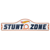 Hot Wheels Stunt Zone Metal Sign