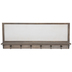 Whitewash Wood Wall Shelf With Hooks