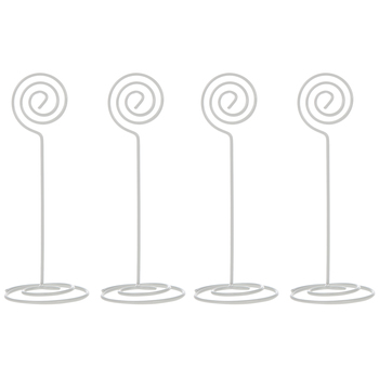 White Swirl Place Card Holders